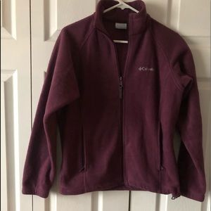 Columbia fleece zip jacket size S
